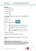 Abituraufgaben Niedersachsen 2012 - Mathematikaufgaben (3B) und deren Musterlösungen zum Thema Geometrie auf erhöhtem Niveau Preview 4