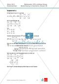 Abituraufgaben Niedersachsen 2012 - Mathematikaufgaben (3B) und deren Musterlösungen zum Thema Geometrie auf erhöhtem Niveau Preview 5