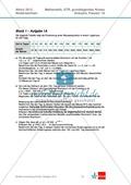 Abituraufgaben Niedersachsen 2012 - Mathematikaufgaben (1A) und deren Musterlösungen zum Thema Analysis auf grundlegendem Niveau Preview 1