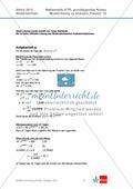Abituraufgaben Niedersachsen 2012 - Mathematikaufgaben (1A) und deren Musterlösungen zum Thema Analysis auf grundlegendem Niveau Preview 3