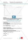Abituraufgaben Niedersachsen 2012 - Mathematikaufgaben (1A) und deren Musterlösungen zum Thema Analysis auf grundlegendem Niveau Preview 5