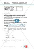 Abituraufgaben Niedersachsen 2012 - Mathematikaufgaben (1A) und deren Musterlösungen zum Thema Analysis auf grundlegendem Niveau Preview 6
