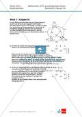 Abituraufgaben Niedersachsen 2012 - Mathematikaufgaben (3A) und deren Musterlösungen zum Thema Geometrie auf grundlegendem Niveau Preview 1