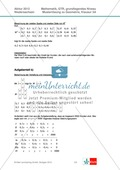 Abituraufgaben Niedersachsen 2012 - Mathematikaufgaben (3A) und deren Musterlösungen zum Thema Geometrie auf grundlegendem Niveau Preview 3