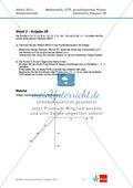 Abituraufgaben Niedersachsen 2012 - Mathematikaufgaben (3B) und deren Musterlösungen zum Thema Geometrie auf grundlegendem Niveau Preview 1