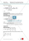 Abituraufgaben Niedersachsen 2012 - Mathematikaufgaben (3B) und deren Musterlösungen zum Thema Geometrie auf grundlegendem Niveau Preview 3