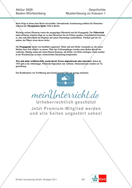 Abituraufgaben Baden-Württemberg 2009: Nationalsozialismus ...