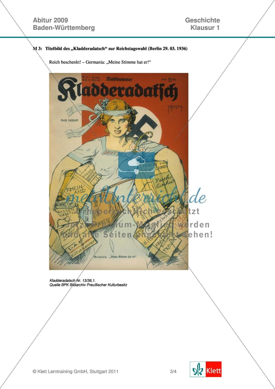 Abituraufgabe Baden-Württemberg 2009: Nationalsozialismus ...