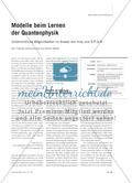 Modelle beim Lernen der Quantenphysik - Unterrichtliche Möglichkeiten im Ansatz von milq und S∙P∙Q∙R Preview 1