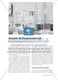 Analytik im Chemieunterricht Preview 1