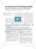 Lernstraße durch die Stoffeigenschaften - Beispiele aus einem Portfolio auf der Basis eines Kompetenzrasters Preview 1