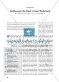 Einführung in die Arbeit mit dem Wörterbuch - Ein Unterrichtsprojekt zur Verbesserung der Lektürefähigkeit Preview 1