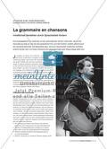 La grammaire en chansons - Inhaltliches Verstehen durch Spracharbeit fördern Preview 1