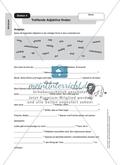 Treffende Adjektive finden, Adjektive steigern und bestimmen: Arbeitsmaterial mit Lösungen Preview 1
