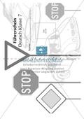Vorlage für den Deutsch-Führerschein Klasse 7 Preview 1