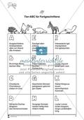 Tier-ABC für Fortgeschrittene: Arbeitsmaterial Preview 1