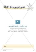Originelle Schreibanlässe für den Sommer: Materialien für das Planen und Schreiben von Texten Preview 1