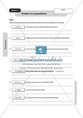 Satzstellung: Übungen zu Inversion, Präpositionen, Präpositionen in Relativsätzen + Lösungen Preview 2