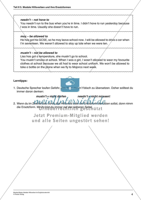 Modale Hilfsverben: Die Grammatikform verstehen + anwenden. Mit ...