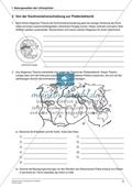 Von der Kontinentalverschiebung zur Plattentektonik: Arbeitsmaterial mit Lösung Preview 1
