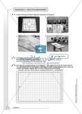 Geometrie - Hausaufgaben zum Umfang und Flächeninhalt von geometrischen Figuren mit Lösungen. Preview 6