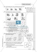 Geometrie - Hausaufgaben zu geometrischen Körpern mit Lösungen. Preview 2