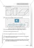 Geometrie - Hausaufgaben zu geometrischen Körpern mit Lösungen. Preview 4