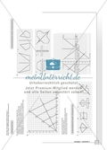 Geometrie - Hausaufgaben zu den Themen: Achsensymmetrie und Achsenspiegelung mit Lösungen. Preview 2