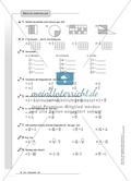 Hausaufgaben zum Rechnen mit Brüchen inklusive Lösungen. Preview 1