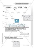 Hausaufgaben zum Rechnen mit Brüchen inklusive Lösungen. Preview 2