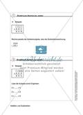 Schüler erarbeiten sich mit diesem Material Lerninhalte zum Thema Addition und Subtraktion mit Aufgaben-, Tipp- und Lösungskarten selbstständig. Preview 5