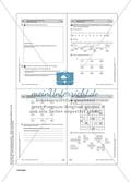 Aufgaben zu Zahlbereichserweiterungen mit einer Übersicht der mathematischen Kompetenzen und Anforderungsniveaus sowie der Lösungen. Preview 14
