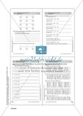 Aufgaben zu Zahlbereichserweiterungen mit einer Übersicht der mathematischen Kompetenzen und Anforderungsniveaus sowie der Lösungen. Preview 16