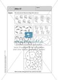Selbstkontrollaufgaben zum Thema Zahlen und Operationen (Zählen und Ordnen) mit Lösungen. Preview 1