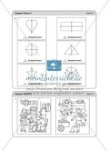 Material für eine Stationenarbeit zum Thema Spiegelungen mit einer Materialaufstellung, Hinweisen und Lösungen. Preview 15