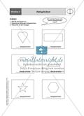 Material für eine Stationenarbeit zum Thema Spiegelungen mit einer Materialaufstellung, Hinweisen und Lösungen. Preview 9