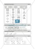 Aufgaben für eine Stationsarbeit zum Thema: Geometrische Formen mit einer Materialaufstellung, einem Laufzettel und den Lösungen. Preview 16