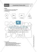Aufgaben für eine Stationsarbeit zum Thema: Geometrische Formen mit einer Materialaufstellung, einem Laufzettel und den Lösungen. Preview 2