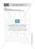 Aufgaben für eine Stationsarbeit zum Thema: Geometrische Formen mit einer Materialaufstellung, einem Laufzettel und den Lösungen. Preview 6
