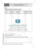 Aufgaben für eine Stationsarbeit zum Thema: Geometrische Formen mit einer Materialaufstellung, einem Laufzettel und den Lösungen. Preview 7