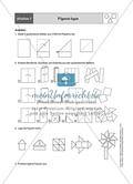 Aufgaben für eine Stationsarbeit zum Thema: Geometrische Formen mit einer Materialaufstellung, einem Laufzettel und den Lösungen. Preview 8