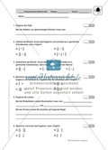 Mathematik, Zahlen & Operationen, Grundrechenarten, Bruchrechnung, textaufgaben, Klassenarbeiten