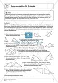 Aufgaben mit Lösungen rund um die Konstruktion von Dreiecken als Grundlage für die ebene Geometrie. Preview 4