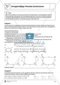 Aufgaben mit Lösungen rund um die Konstruktion von Vierecken als Grundlage für die ebene Geometrie. Preview 1