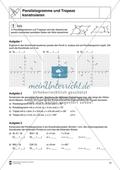Aufgaben mit Lösungen rund um die Konstruktion von Vierecken als Grundlage für die ebene Geometrie. Preview 3