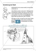 Entstehung der Stadt im Mittelalter: Arbeitsmaterial mit Lösung Preview 1