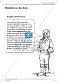 Menschen auf der mittelalterlichen Burg: Arbeitsmaterial mit Lösung Preview 1