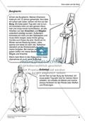 Menschen auf der mittelalterlichen Burg: Arbeitsmaterial mit Lösung Preview 2