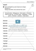 Tagesablauf im Mittelalter und heute: Arbeitsmaterial mit Lösung Preview 2