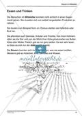 Essen und Trinken im Mittelalter und heute: Arbeitsmaterial mit Lösung Preview 1